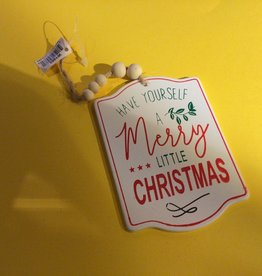 Christmas Traditions White Tag Ornament with Words