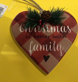 Christmas Traditions Checkered Heart Ornament
