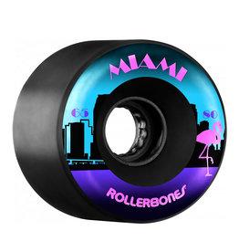 Bones Rollerbones Outdoor Miami Wheels, 8 Pack