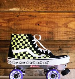 vans VANS SK8-Hi Sneaker Skates BMX, Reissue green & black checkered, size M-10.5, W-12
