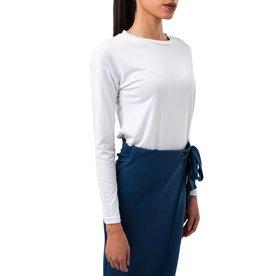 T-shirt Modal manches longues en encolure en rond