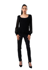 Coco Angelo Chandail Coco  pull cache cœur v neck