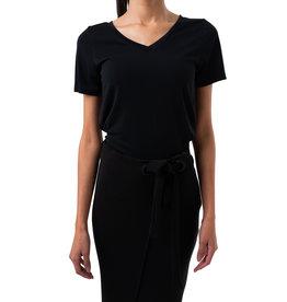 T-shirt Modal col en V à manches courtes