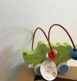 Wood Alligator Push Toy