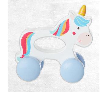 Wood Unicorn Push Toy