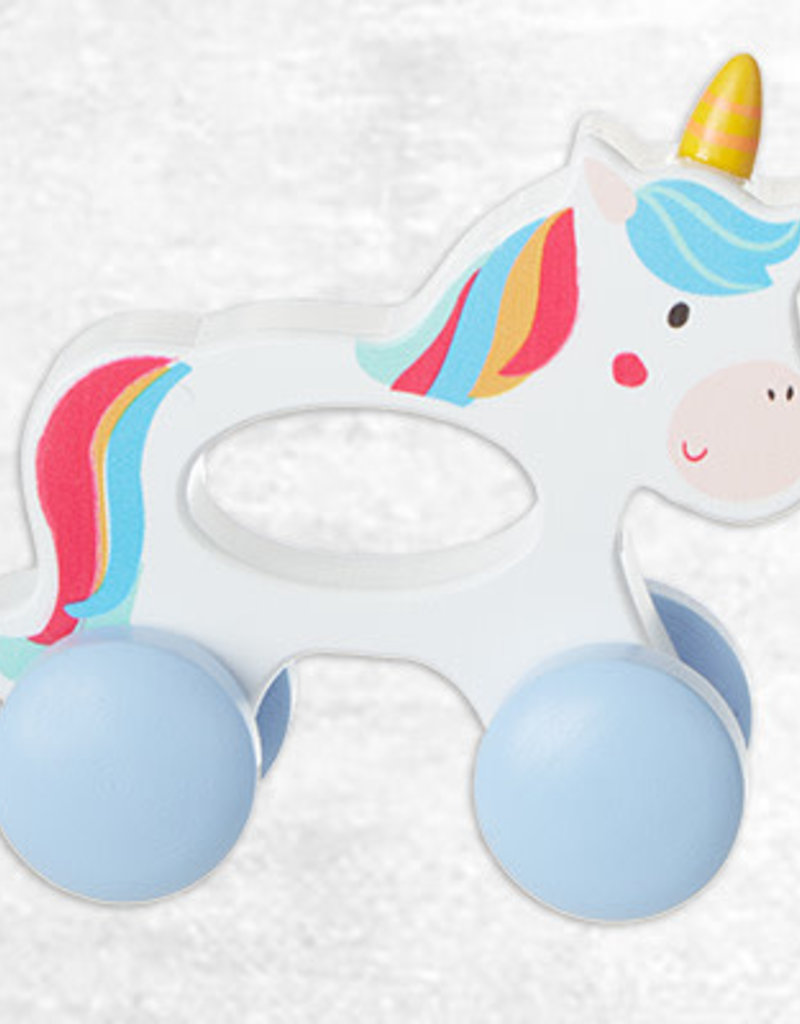 Wood Unicorn Push Toy