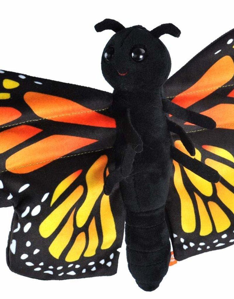 Wild Republic Huggers Butterfly Monarch Snap Bracelet