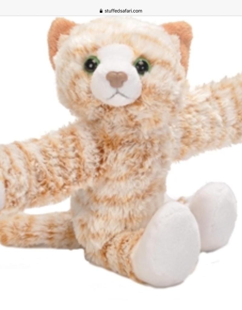 Wild Republic Huggers Orange Cat Snap Bracelet