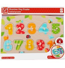 Hape Number Peg Puzzle