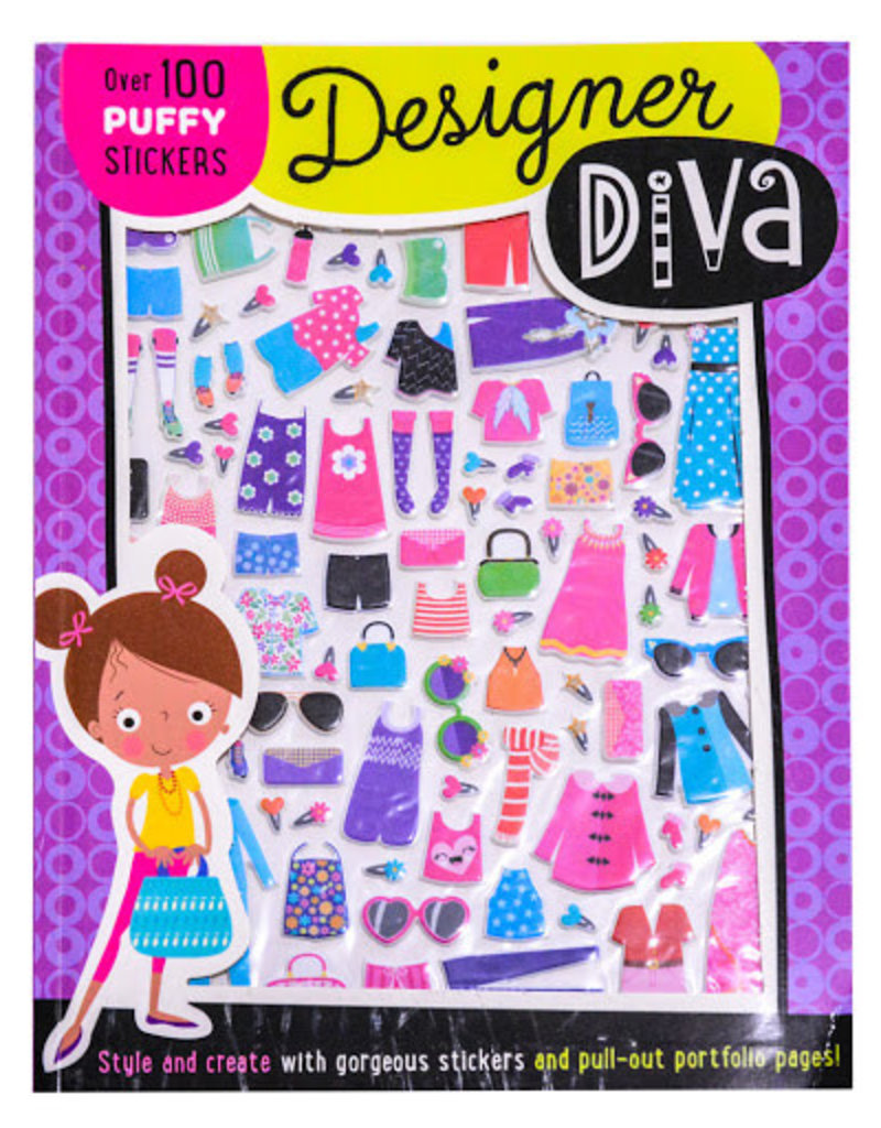 Designer Diva Puffy Stickers Activity Book