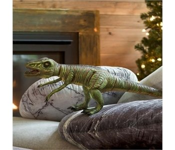 """30"""" Giant Posable Velociraptor Natural Latex Dinosaur"""