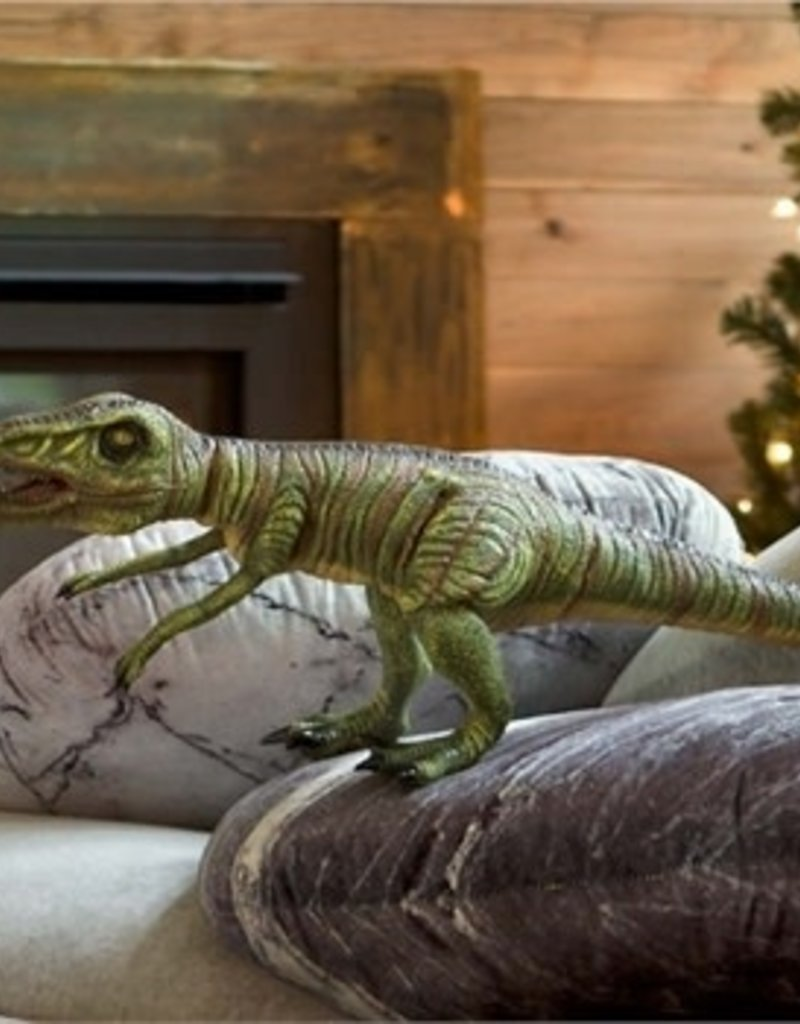 HearthSong Giant Posable Velociraptor Natural Latex Dinosaur