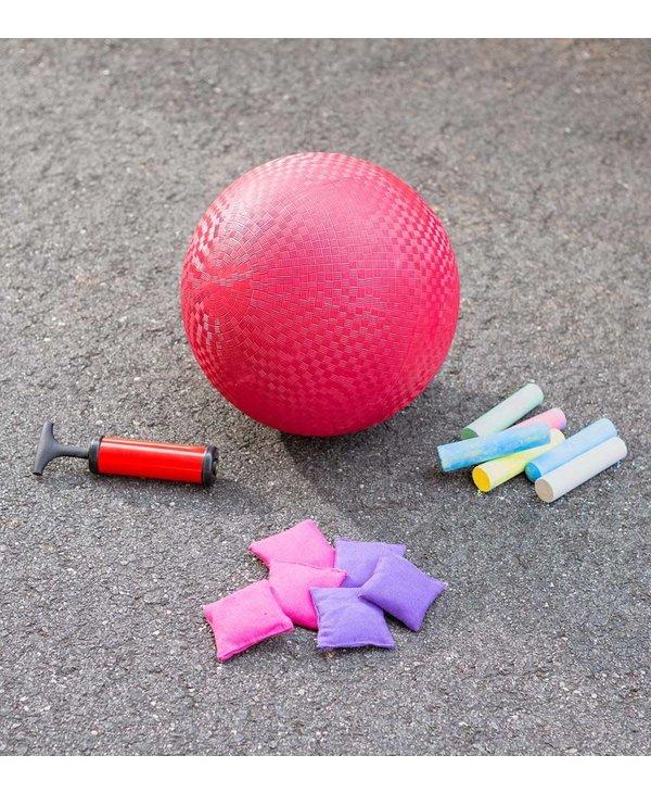 Playground Classic Games Set-Kickball, Hopscotch, and 4-Square