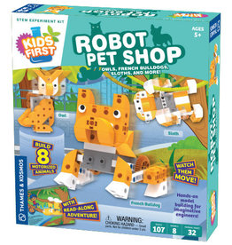 Thames & Kosmos Kids First Robot Pet Sop: Owls, Hedgehogs, Sloths and More