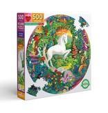 eeBoo Unicorn Garden 500pc Round Puzzle