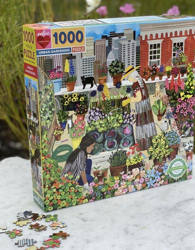 eeBoo Urban Gardening 1000 pc Puzzle