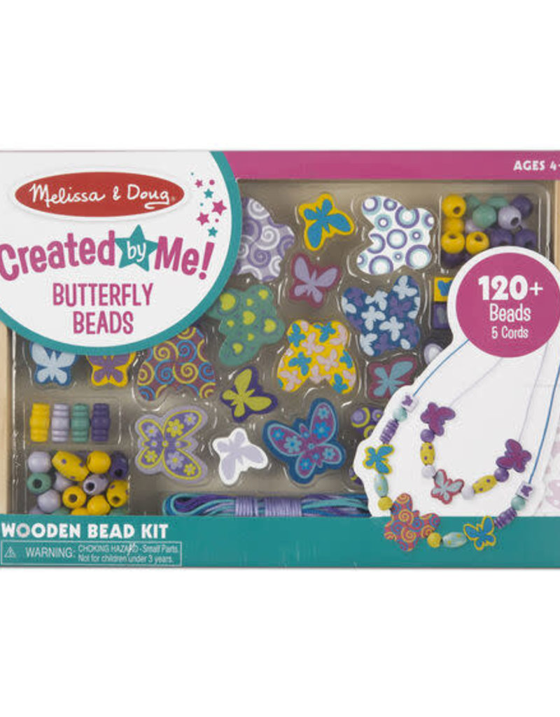 Melissa & Doug Wooden Butterfly Beads