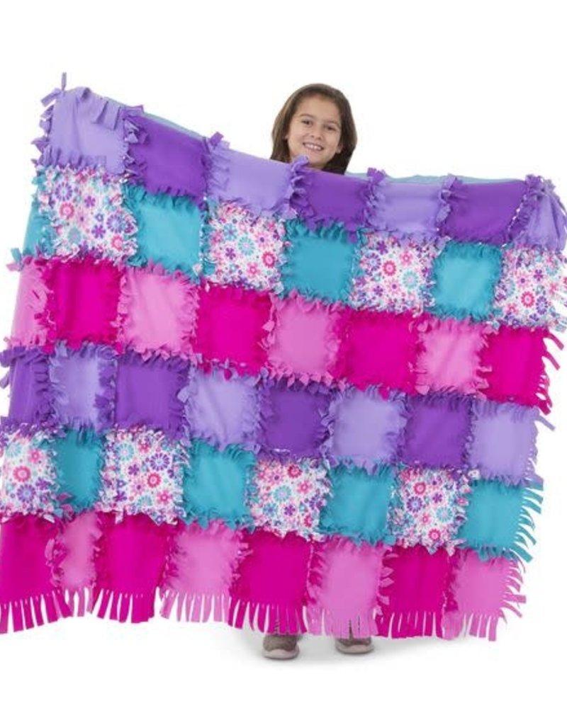 Melissa & Doug Created By Me Flower Fleece Quilt