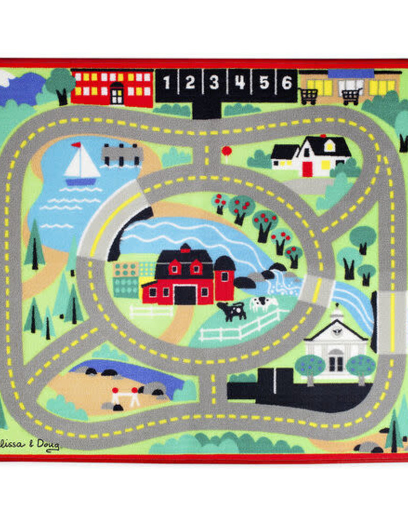 Melissa & Doug Aroung The Town Road Play Rug