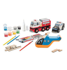 Melissa & Doug Rescue Vehicles Wooden Craft Kit
