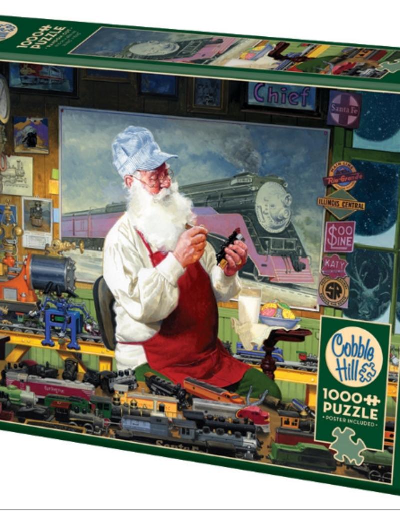 Cobble Hill Santa's Hobby 1000 piece puzzle