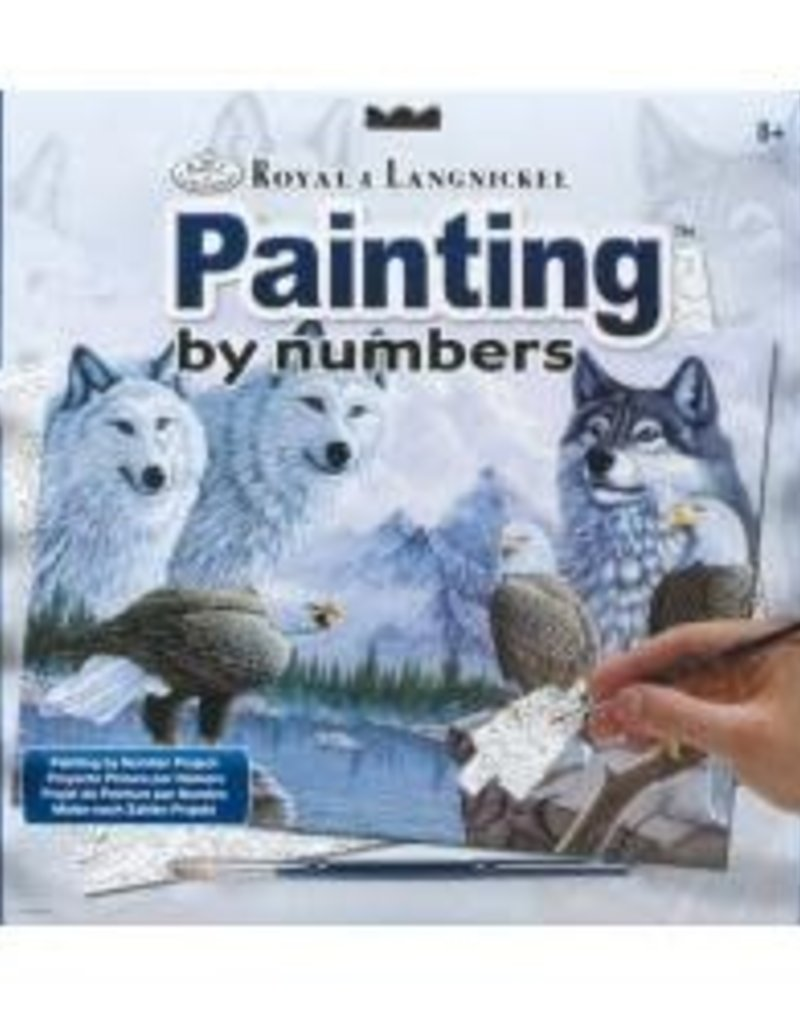 Wolves and Eagles Paint By Number