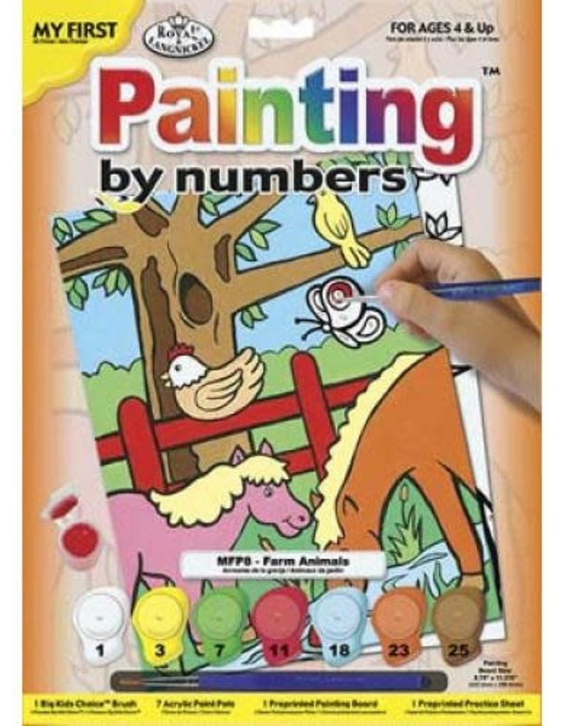 Farm Animals Paint By Number