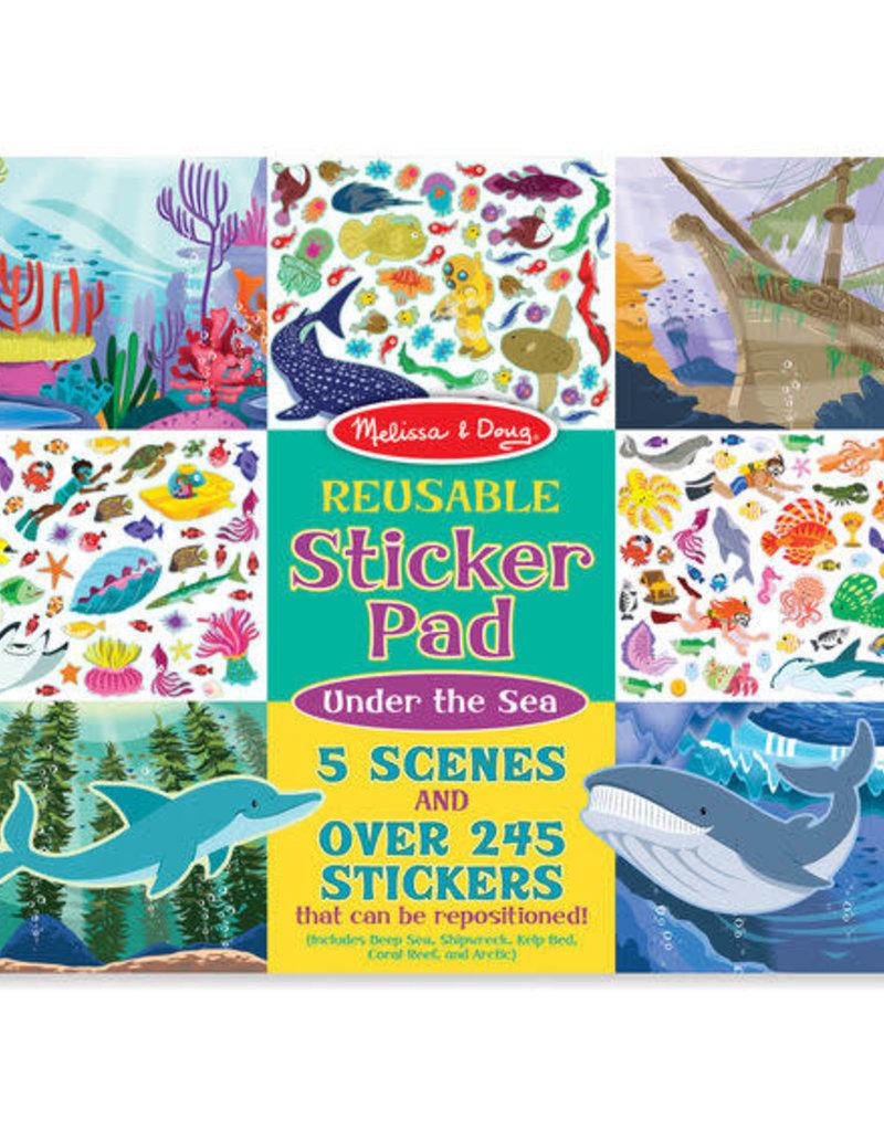 Melissa & Doug Reusable Sticker Pad Under The Sea