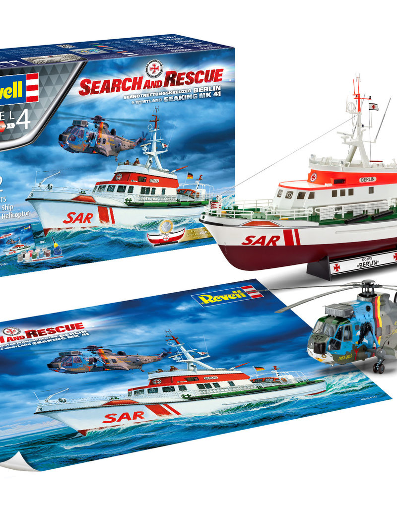"Revell DGzRS Berlin + Sea King ""Good Bye Set Search and Rescue"