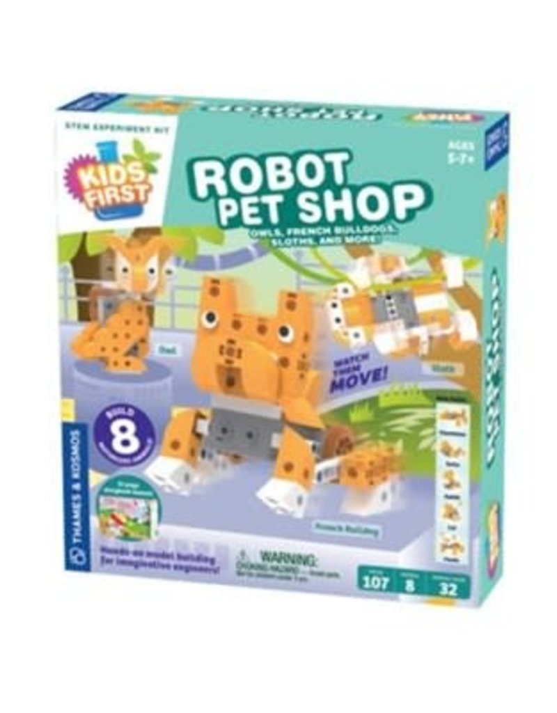 Thames & Kosmos Kids First Robot Pet Shop, Owls, Hedgehogs, Sloths and more