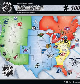 Masterpieces NHL Hockey Map Puzzle 500 pcs