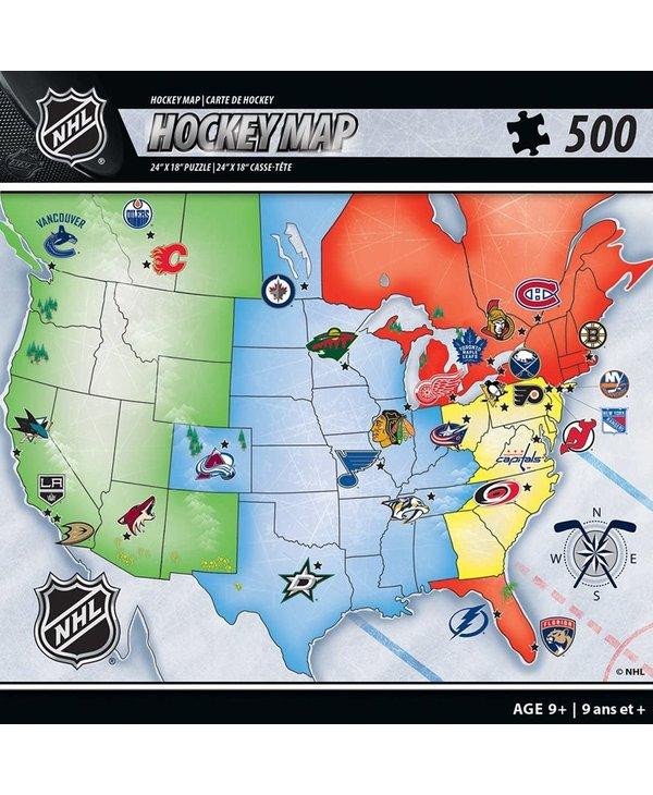 NHL Hockey Map Puzzle 500 pcs