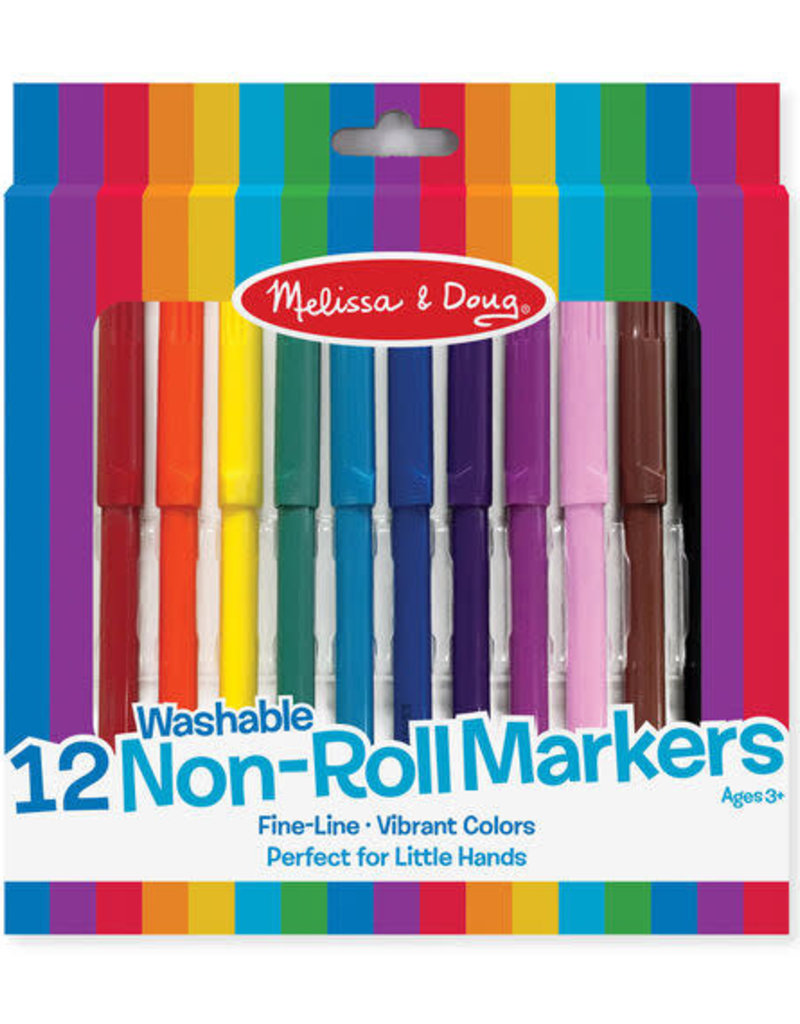Melissa & Doug Non Roll  Markers Washable