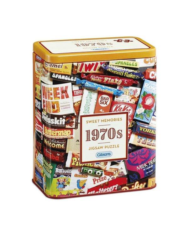 1970's Sweet Memories Tin 500 peice puzzle