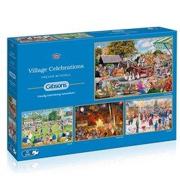 Gibson Village Celebrations 500 piece 4 puzzle set