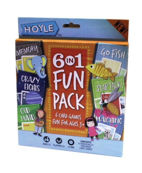 6 in 1 card games fun pack