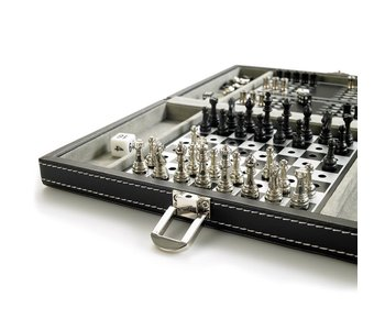3 in 1 games set- chess, backgammon, draughts