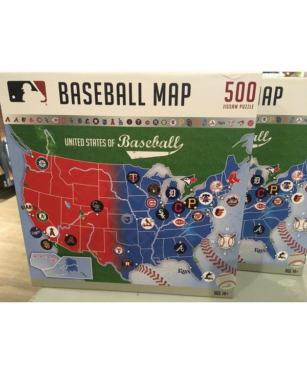 MLB Baseball Map Puzzle 500 pieces