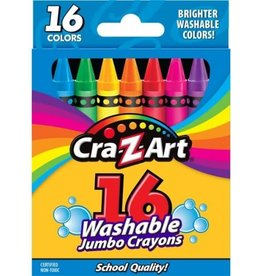 Washable Jumbo Crayons 16 pack
