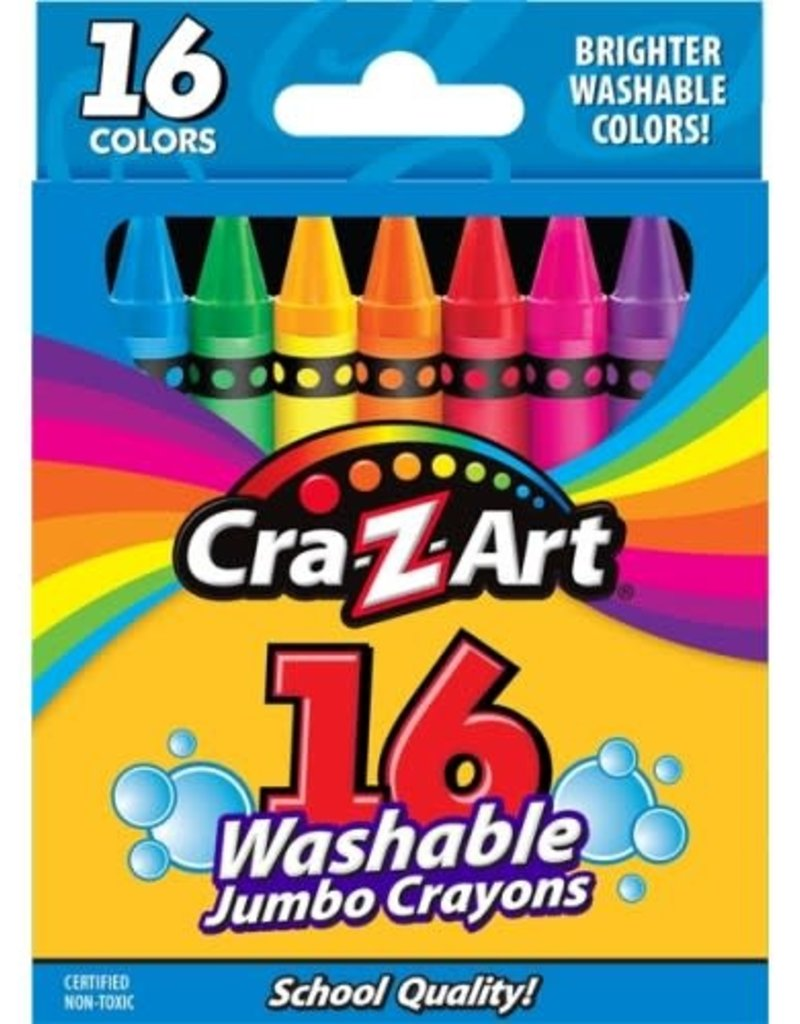 Washable Jumbo Crayons 16 pack