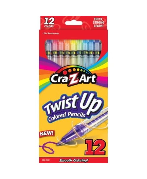 Twist Up Colour Crayons 12 pack