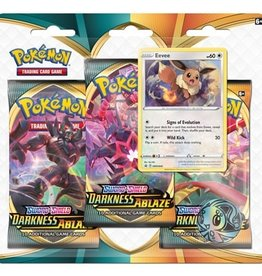 Pokemon Sword & Shield Darkness Ablaze 3 blister pack