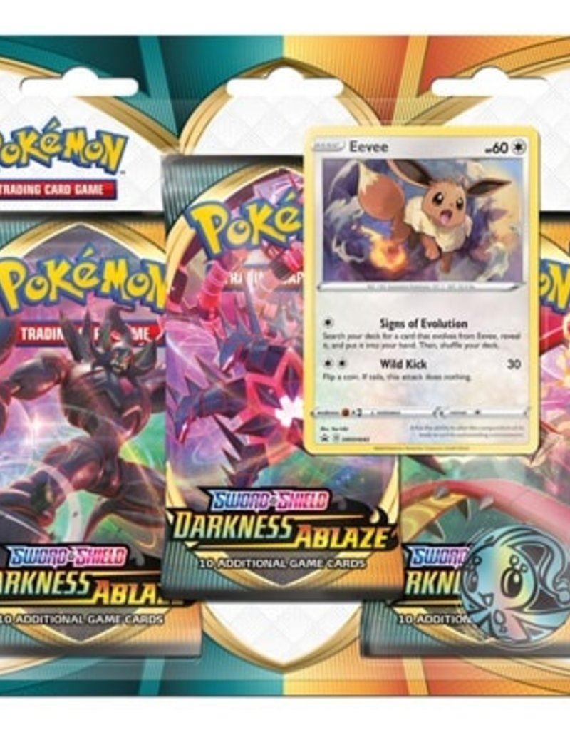 Pokemon Sword & Shield Darkness Ablaze 3 blister pack