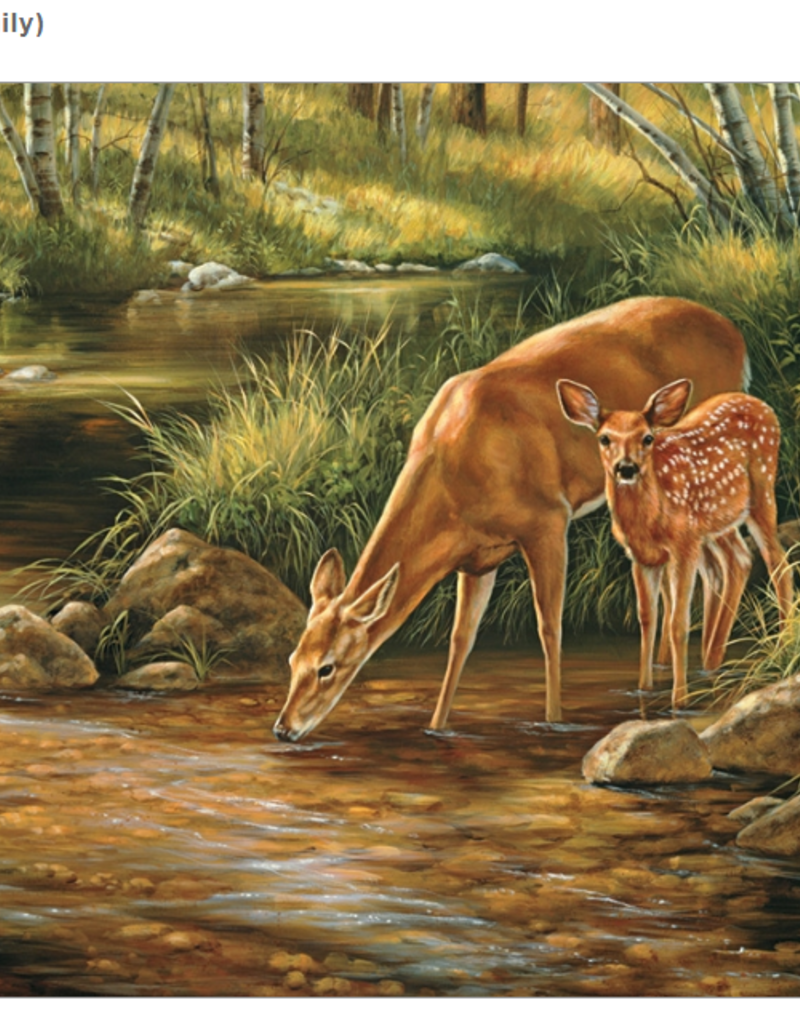 Cobble Hill Deer Family 350 piece family puzzle