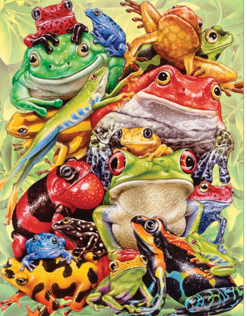 Cobble Hill Frog Pile 350 piece family puzzle