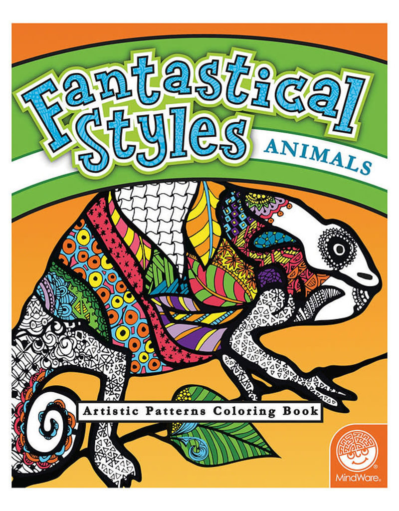 Fantastical Styles Animals Colouring Book