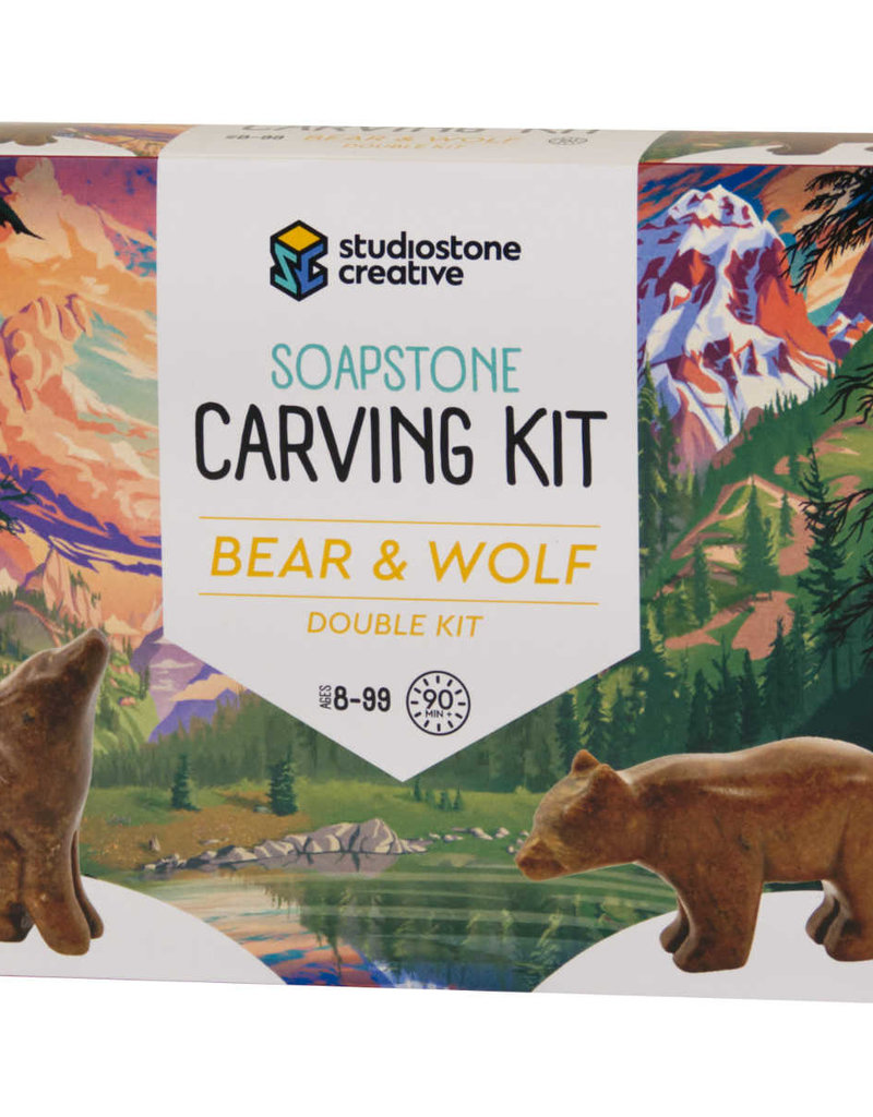 Studiostone Creative Soapstone Carving Double Kit