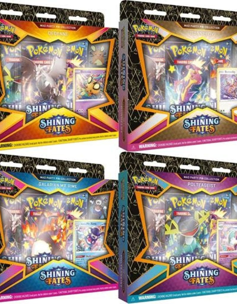 Pokemon Pokemon Shining Fates Mad Party Pin Collection