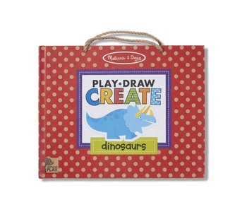 Reusable Drawing and Magnet Kit Play, Draw, Create - Dinosaurs