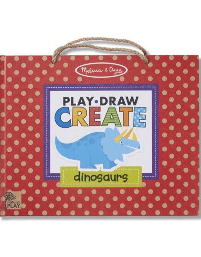 Melissa & Doug Reusable Drawing and Magnet Kit Play, Draw, Create - Dinosaurs